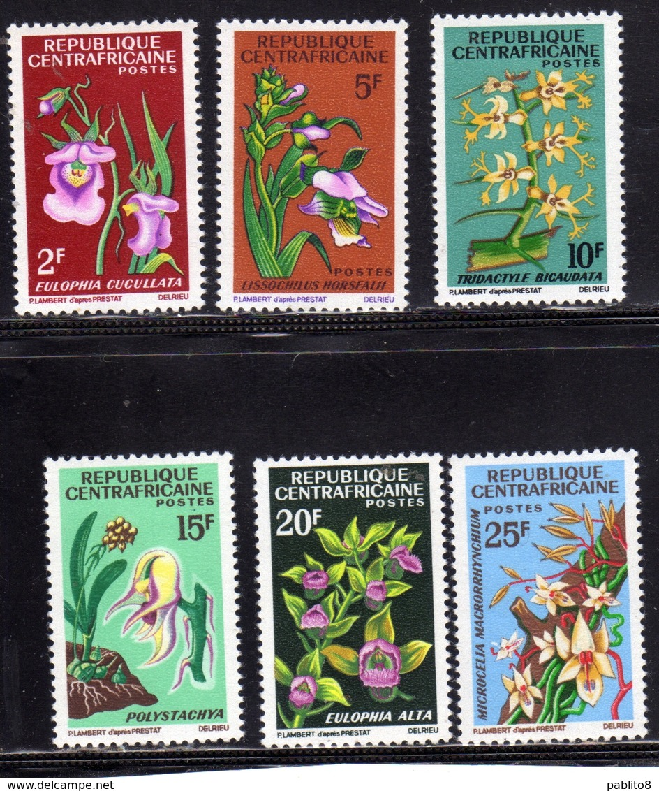 REPUBBLICA CENTRAFRICANA CENTRAFRICAINE CENTRAL AFRICAN REPUBLIC 1966 FLORA ORCHIDS Les Orchidées ORCHIDEE SET SERIE MNH - Repubblica Centroafricana