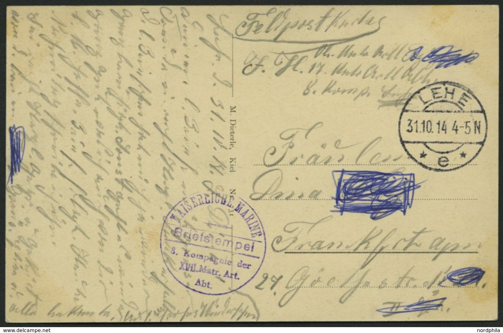 ALTE POSTKARTEN - SCHIFFE KAISERL. MARINE BIS 1918 S.M. Vermessungsfahrzeug Möwe, Eine Gebrauchte Feldpostkarte - Krieg