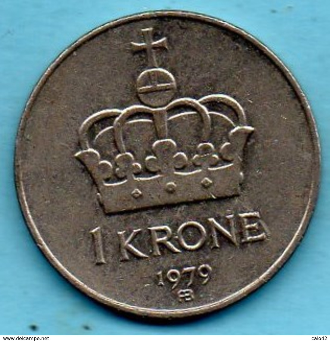 NORWAY / NORVEGE  1 Krone 1979 AB  KM#419 - Norvège