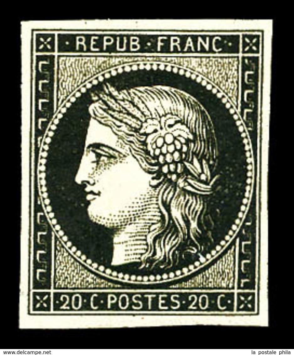 ** N°3, 20c Noir Sur Jaune, Fraîcheur Postale, SUP (signé Calves/certificat)  Qualité: ** - 1849-1850 Ceres