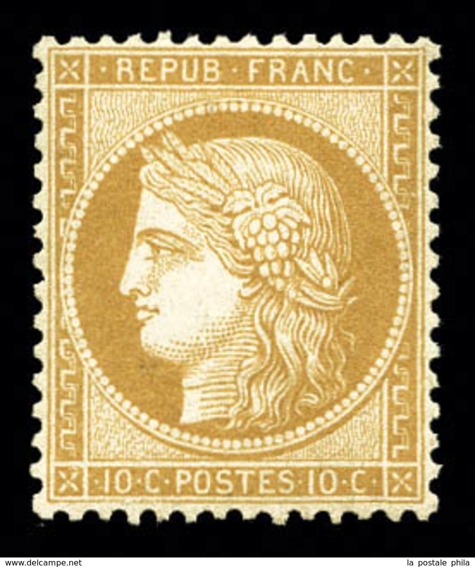 ** N°36, 10c Bistre-jaune, Très Bon Centrage, Fraîcheur Postale. SUPERBE (signé Calves/certificat)  Qualité: ** - 1870 Siege Of Paris