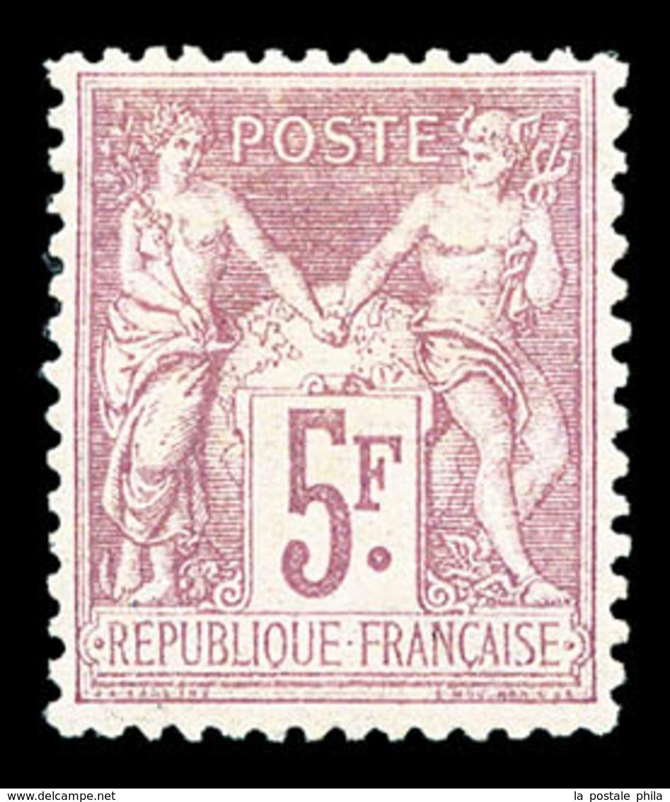 * N°95a, 5F Lilas Rose Sur Lilas-pâle, Très Bon Centrage, SUP (certificat)  Qualité: * - 1876-1878 Sage (Type I)