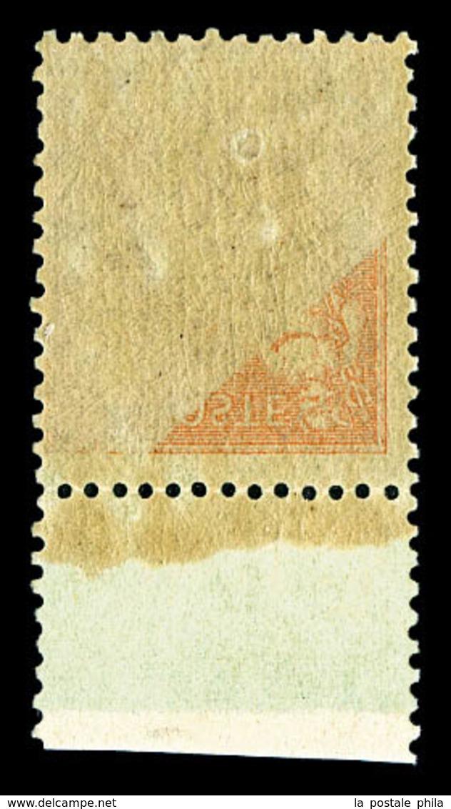 ** N°96, 20c Brique Sur Vert, Impression Recto-verso Partiel, Bdf. TB  Qualité: **  Cote: 175 Euros - 1876-1878 Sage (Type I)