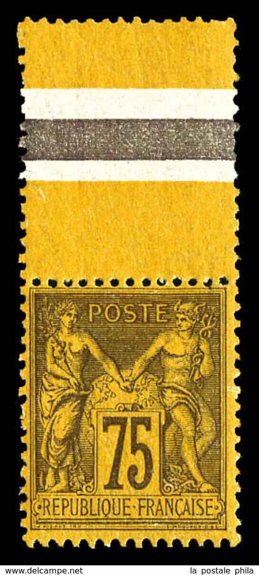 ** N°99, 75c Violet Sur Orange Bdf, Fraîcheur Postale. SUP (certificat)  Qualité: ** - 1876-1878 Sage (Type I)