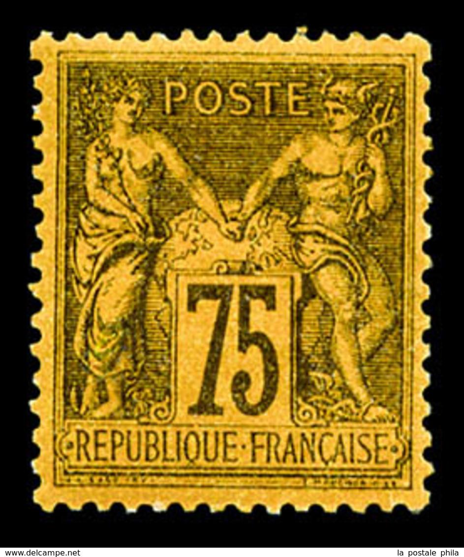 * N°99, 75c Orange, Très Bon Centrage, TTB (certificat)  Qualité: * - 1876-1878 Sage (Type I)
