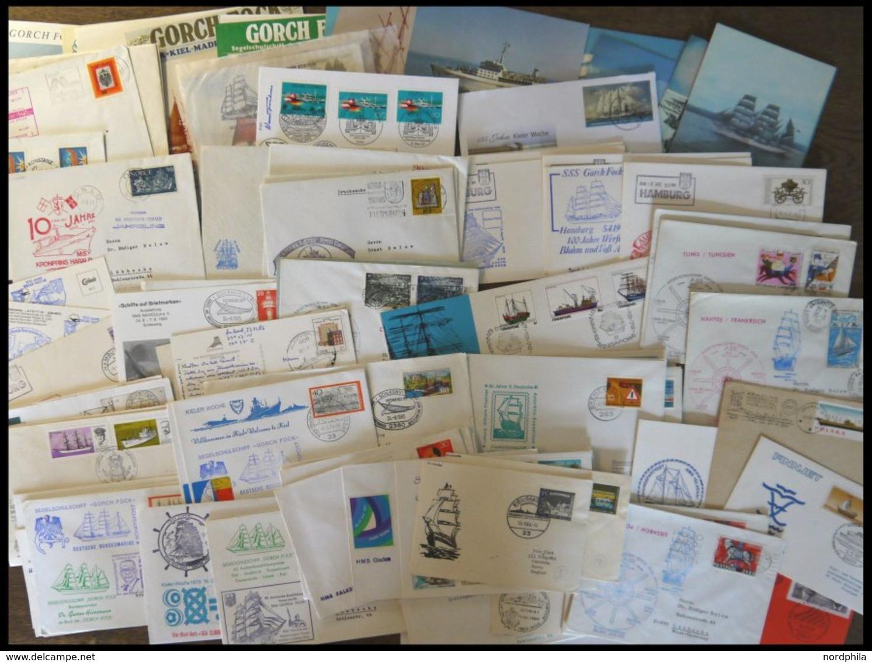 SONSTIGE MOTIVE Ca. 1960-94, über 70 Verschiedene Belege Moderne Schiffspost, Dazu Einige Ansichtskarten Und Gedenkblätt - Schiffahrt