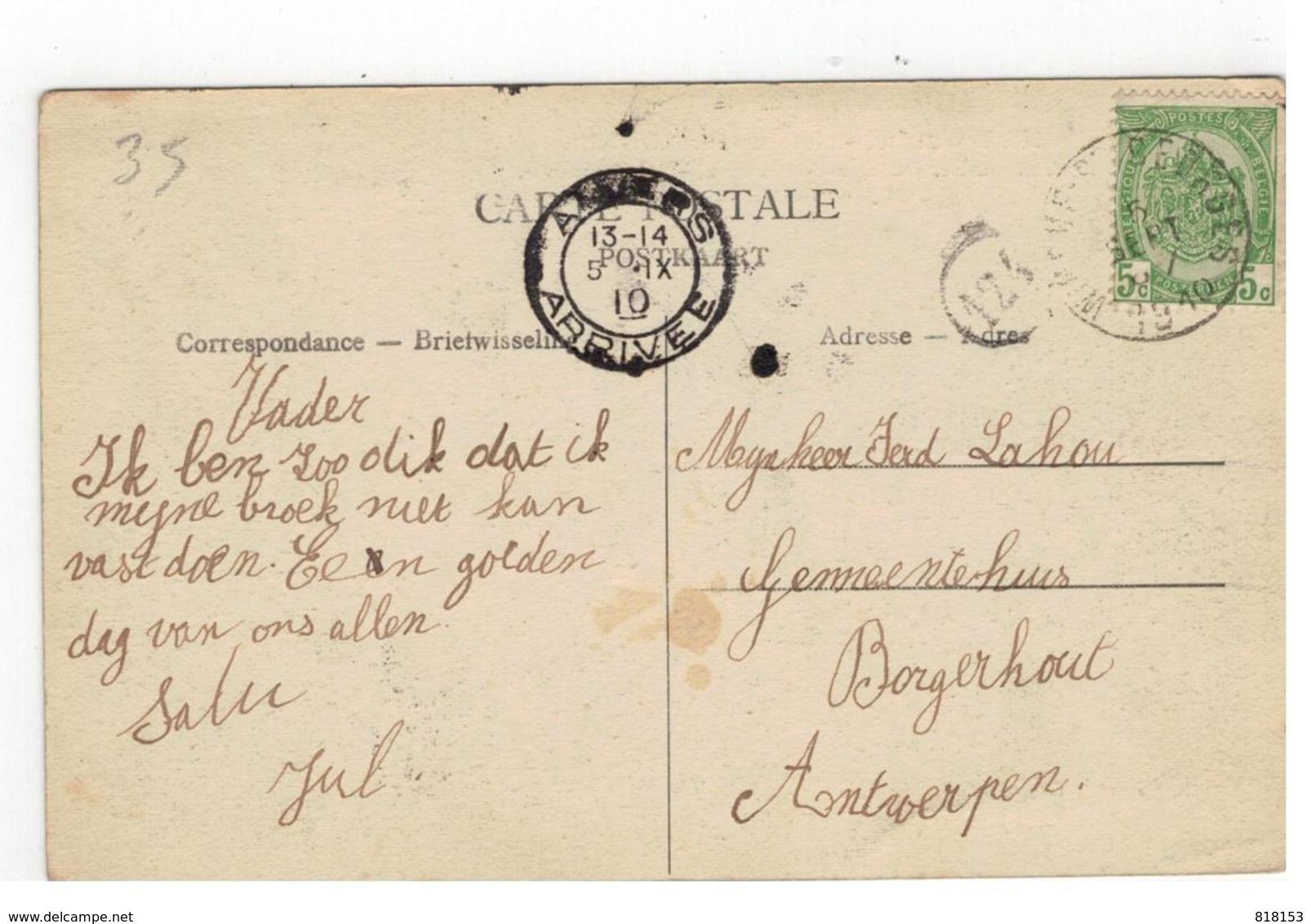 Tielt-Winge  St-Joris Winghe. - Winghe St-Georges  Het Heiken (Gehucht) 1910 - Tielt-Winge