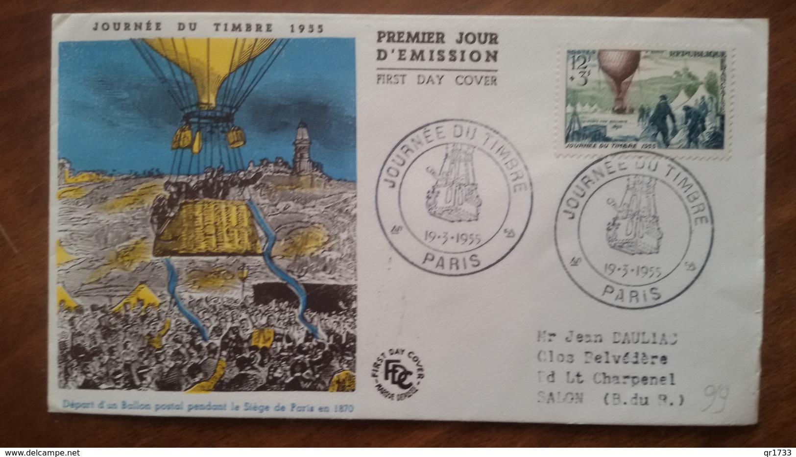 Premier Jour  FDC..  JOURNEE  DU  TIMBRE .. 1955. - FDC