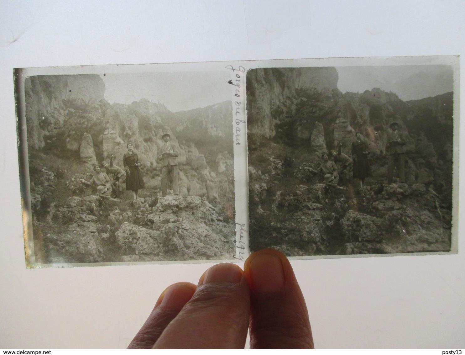GORGES DU TARN  - 1929 -  Plaque De Verre Stéréoscopique 6 X 13 - TBE - Glasdias