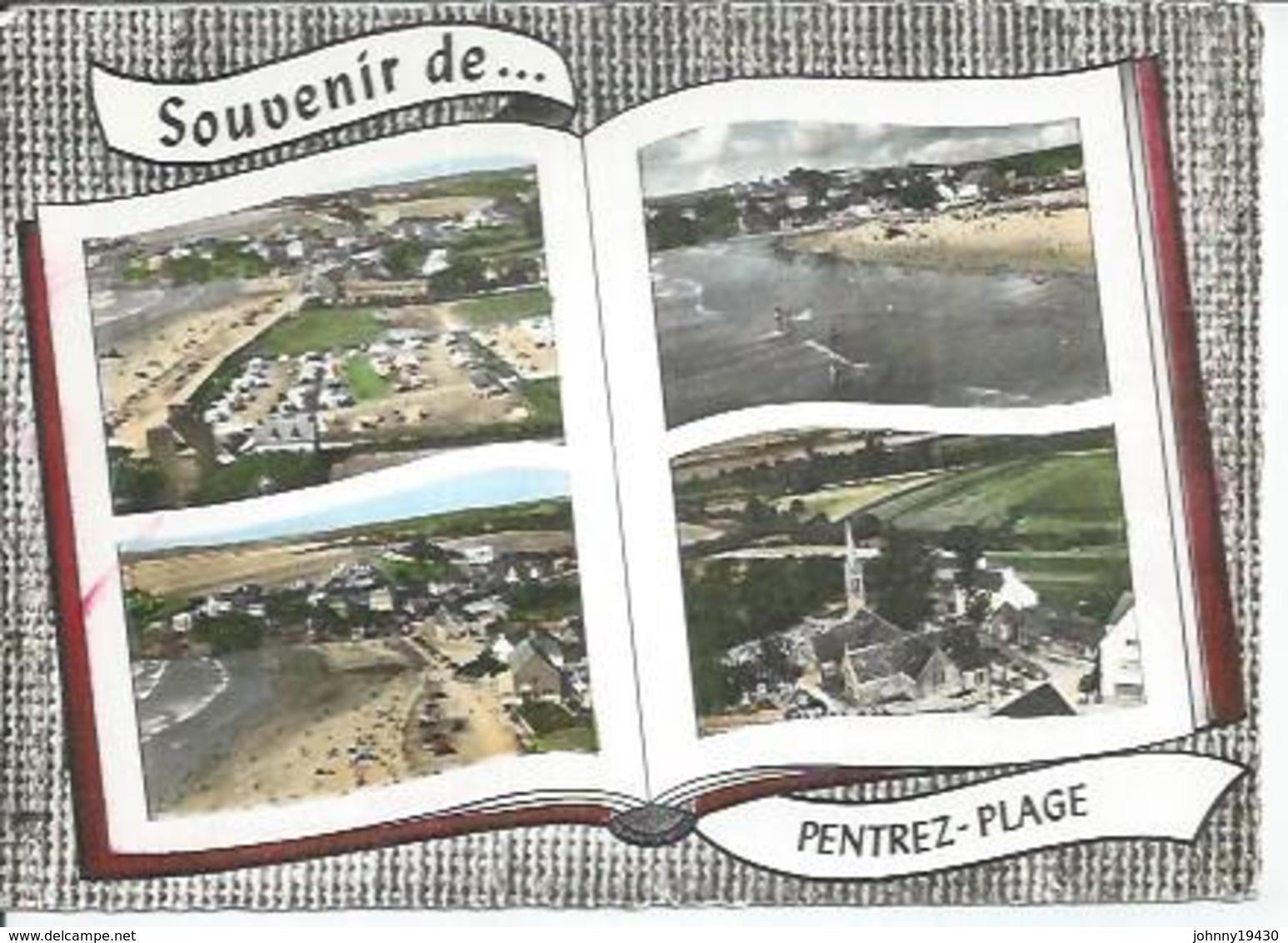 101 - PENTREZ-PLAGE - LE CAMPING - LA PLAGE - St-NIC: L'EGLISE - PANORAMA  ( 4 VUES ) - France
