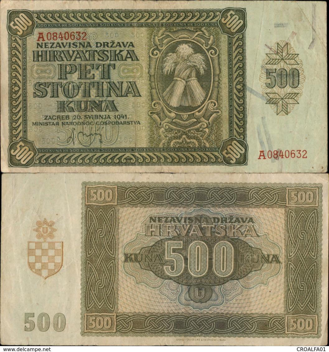 CROATIA-NDH 500 KUNA 1941 - Croatie