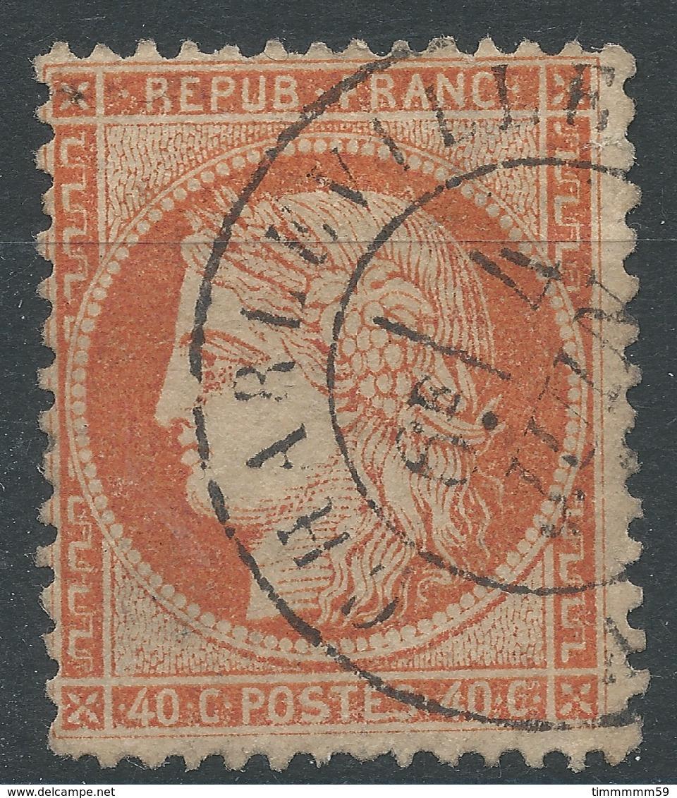 Lot N°47010  Variété/n°38, Oblit Cachet à Date De Charleville, Ardennes (7), E EtS De POSTES Se Touche - 1870 Siege Of Paris