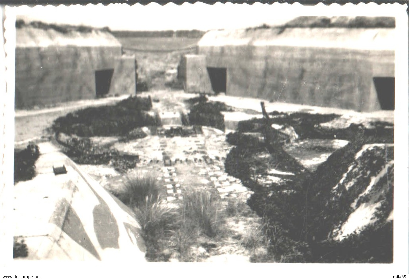 Le Mur De L'Atlantique . Penthièvre . Juillet 1947. - Krieg, Militär