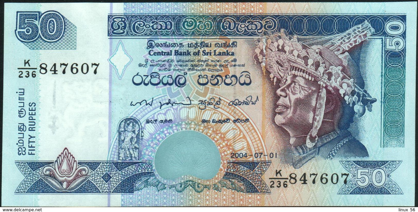 CEYLON & SRI LANKA - 50 Rupees 01.07.2004 UNC P.117 C - Sri Lanka