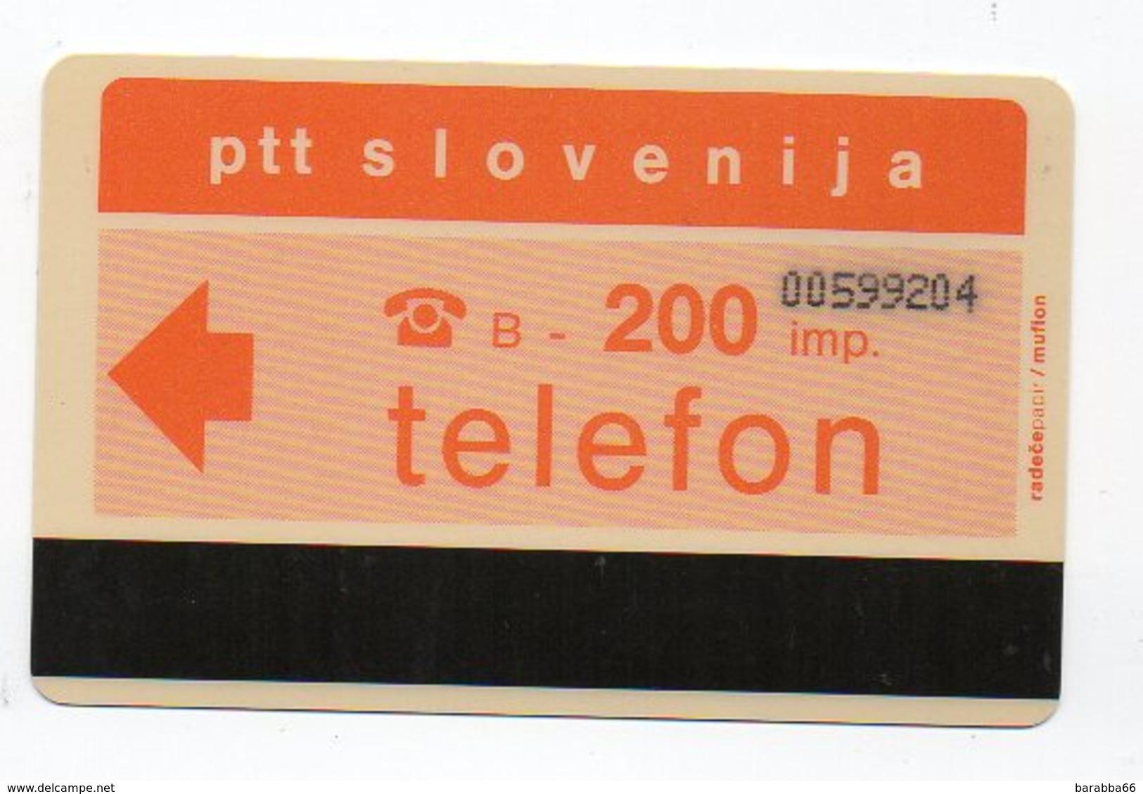 Ptt Slovenija - Telefon -  200 Imp. - Slovénie