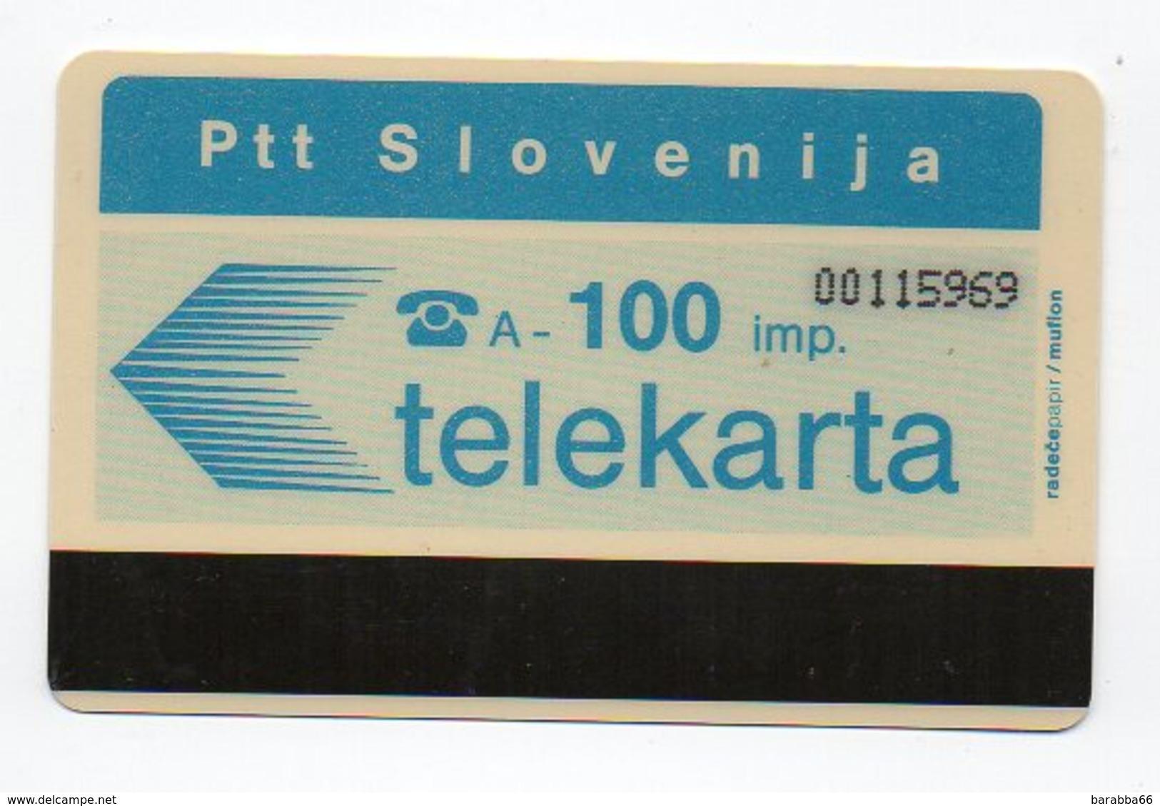 Ptt Slovenija - Telekarta -  100 Imp. - Slovenia