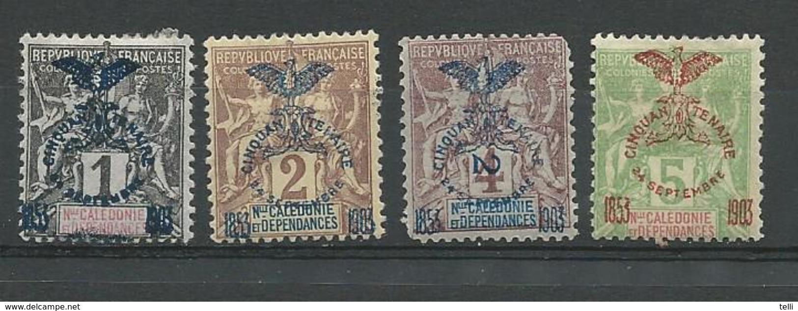 NOUVELLE CALÉDONIE Scott 66, 67, 68, 70 Yvert 67, 68, 69, 71 (4) * Cote 19,50 $1903 - Nouvelle-Calédonie