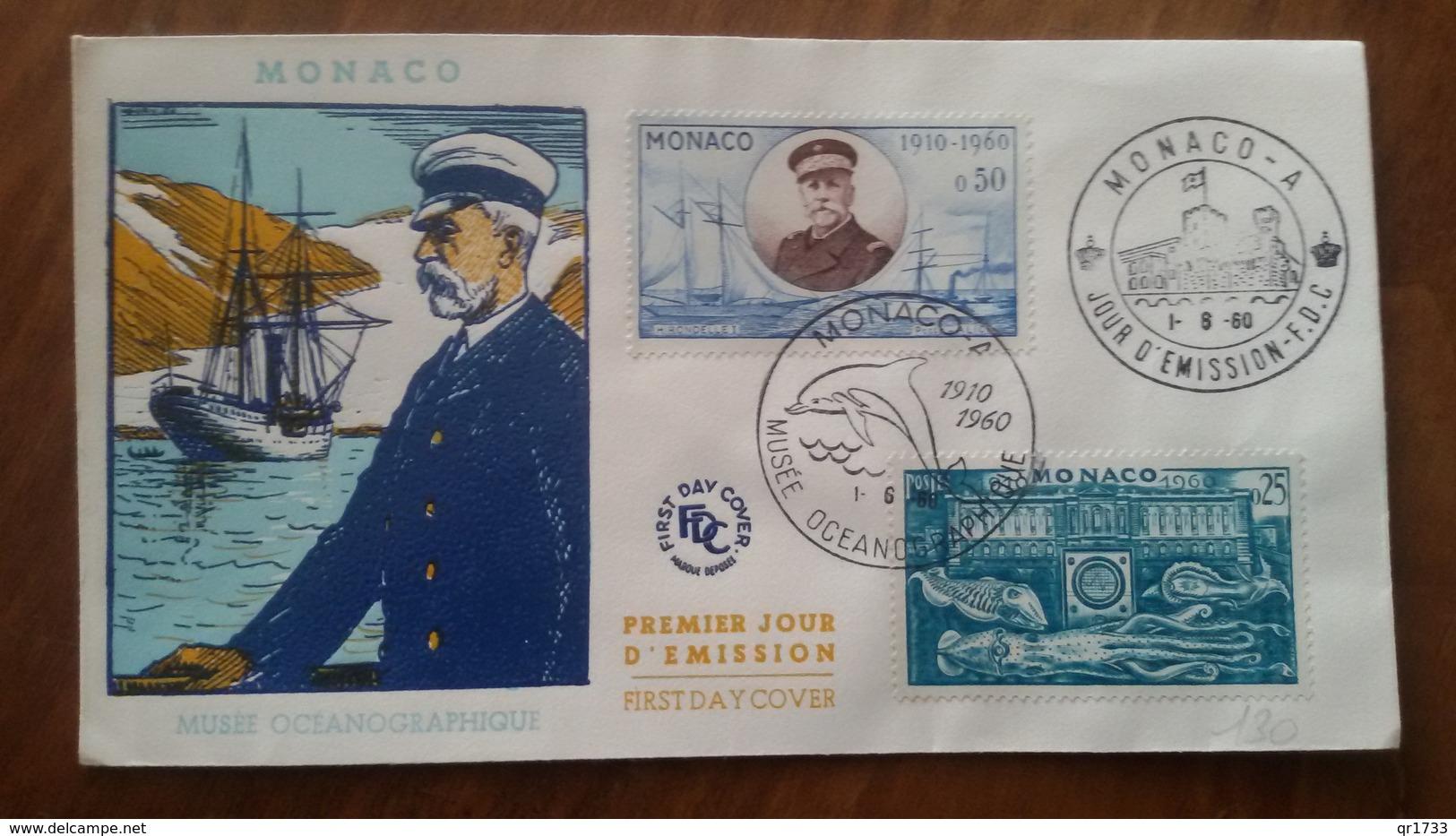 Premier Jour  FDC.. MONACO ..  MUSEE  OCEANOGRAPHIQUE  1960.. - Other