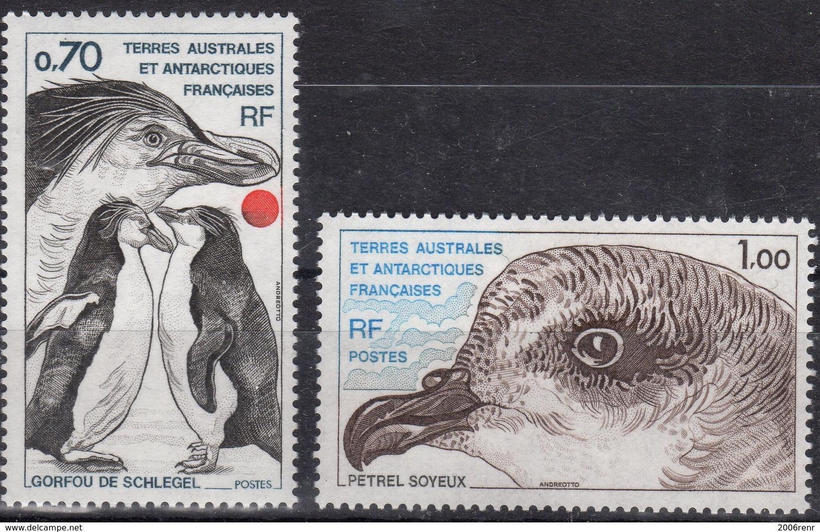 TAAF POSTE N° 81/82 NEUFS** SUPERBES - Terres Australes Et Antarctiques Françaises (TAAF)