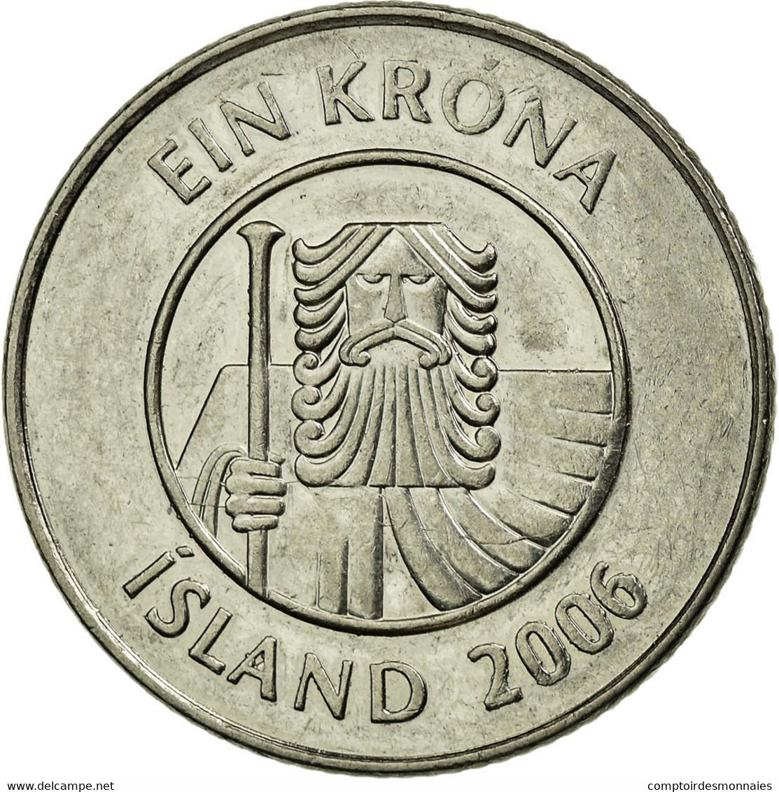 Monnaie, Iceland, Krona, 2006, TTB, Nickel Plated Steel, KM:27A - Island