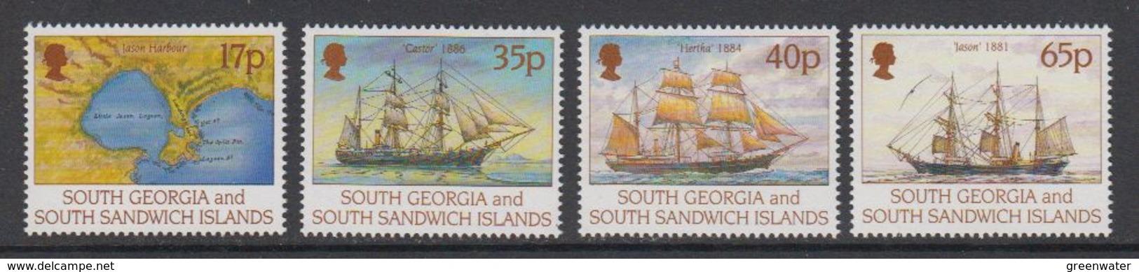 South Georgia 1994 Larsen's 1st Voyage 4v  ** Mnh (42212) - Zuid-Georgia