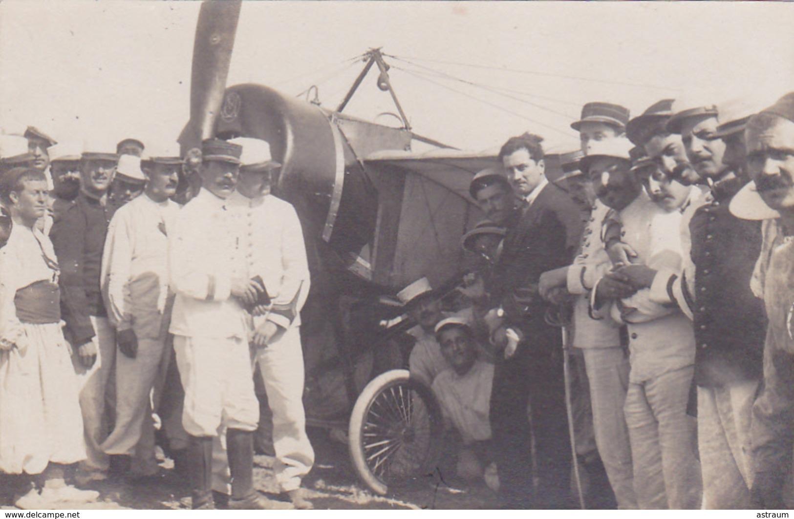 Cpa /carte Photo-aviation- Roland Garros Arrivant A Bizerte (tunisie) Le 23 Septembre 1913 -parfait état - Aviateurs