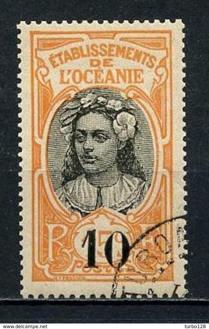 OCEANIE 1916 N° 43 Oblitéré  Superbe C 4 €  Tahitienne Couronne Fleurs Flowers - Oceania (1892-1958)
