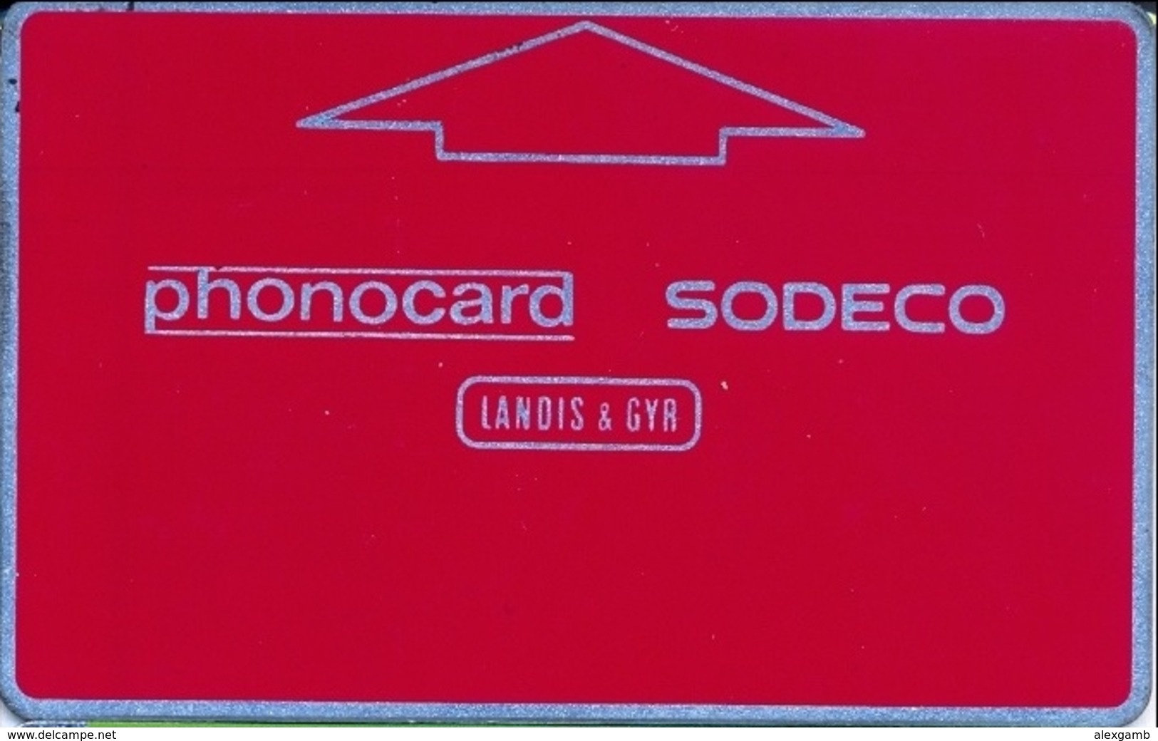 TEST CARD  LANDIS & GYR SODECO For NETHERLANDS Ctrl 684340 USED (+/- 30 From 100) DARK-RED 100u STRUCTURE 11 VERY RARE - Test & Dienst