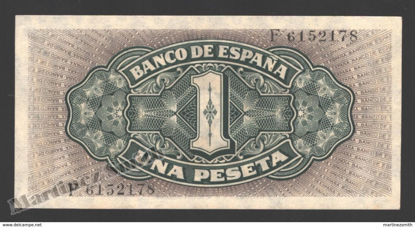 Banknote Spain -  1 Peseta – September 1940 – Sailing Ship Santa Maria, Columbus - Condition XF - Pick 122a - [ 3] 1936-1975 : Régence De Franco