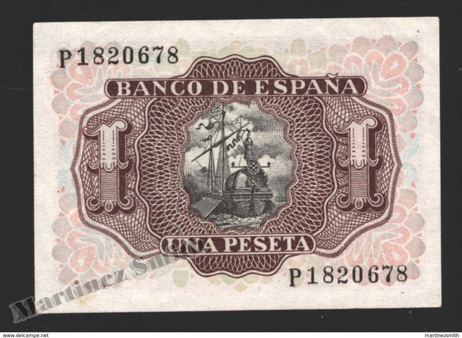 Banknote Spain -  1 Peseta – July 1953 – Marques De Santa Cruz - Condition VF - Pick 144a - [ 3] 1936-1975 : Régence De Franco