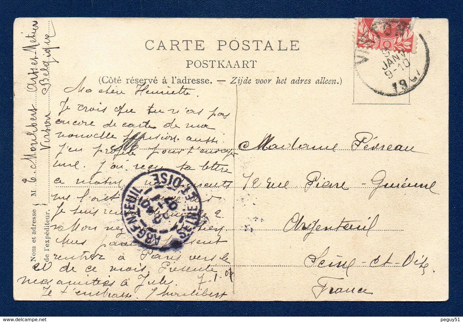Virton. Ecole D'Arts Et Métiers De Pierrard. Une Des Cascades Du Ton. 1907 - Virton