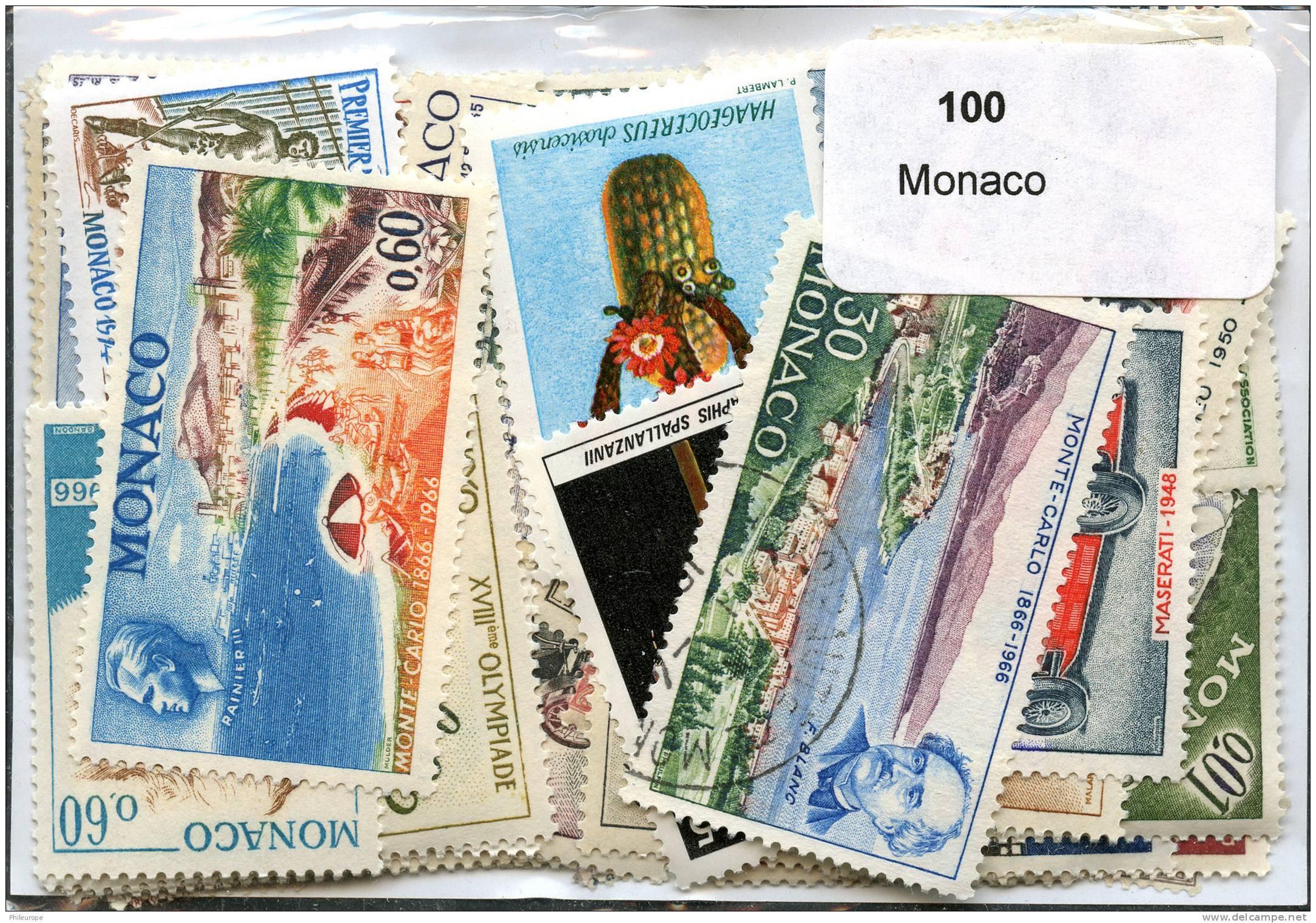 Lot 100 Timbres Monaco - Timbres
