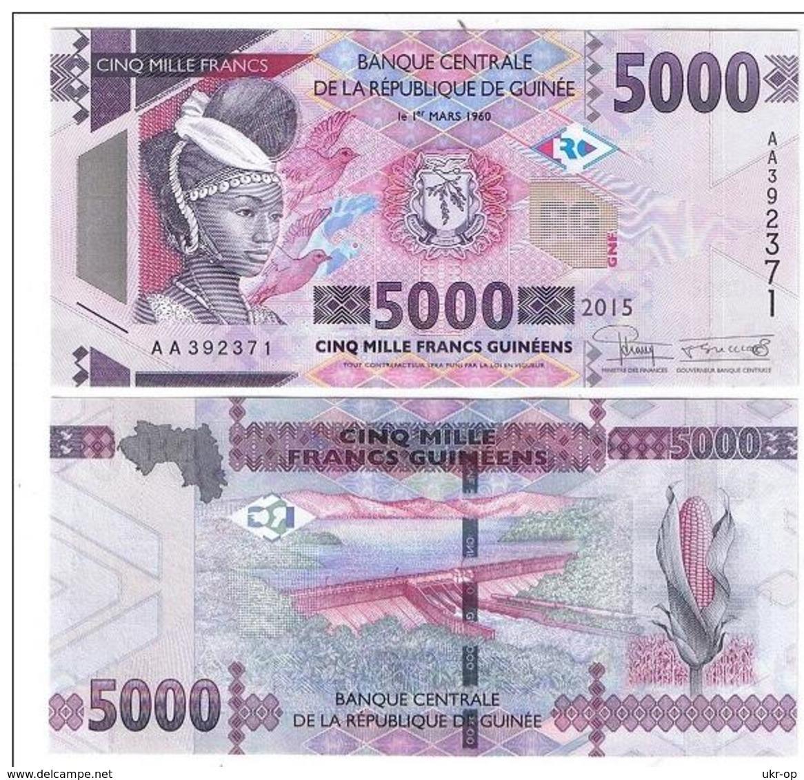 Guinea - 5000 Francs 2015 UNC Ukr-OP - Guinea