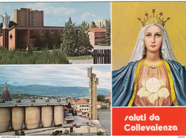 12290-SALUTI DA COLLEVALENZA(PERUGIA)-FG - Souvenir De...