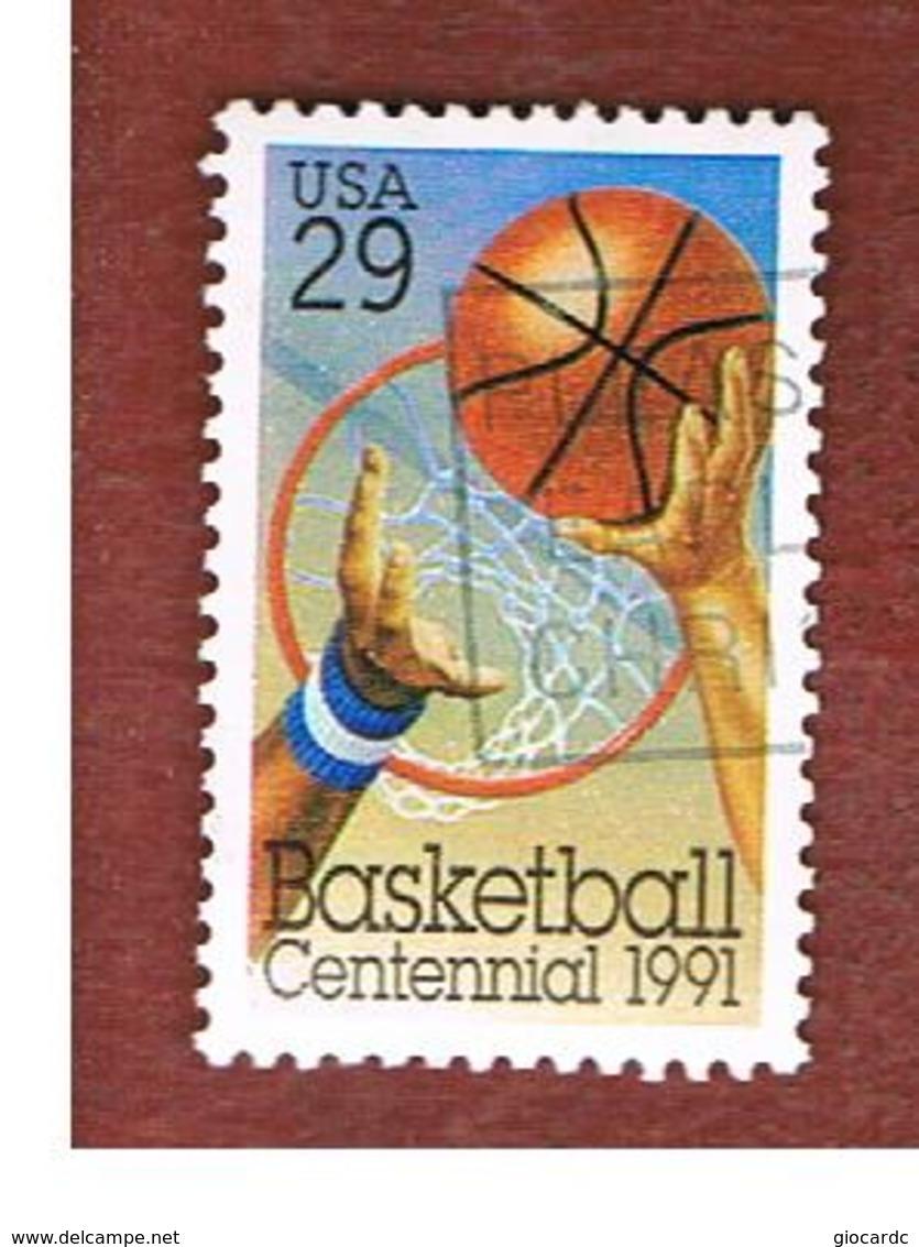 STATI UNITI (U.S.A.) - SG 2604  -    1991 BASKETBALL CENTENARY       -   USED - Verenigde Staten