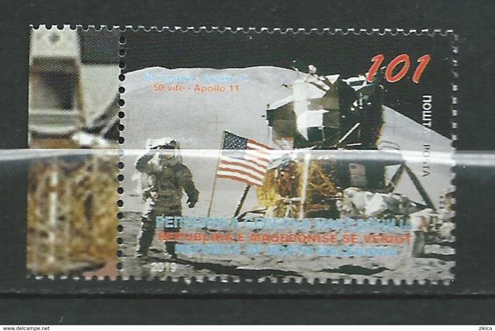 MACEDONIA 2019 - 50 Ann Of Apollo 11.space.U.S.**MNH - Macédoine
