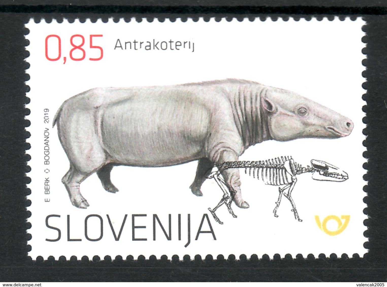 3333 Slowenian Slovenia 2019 ** MNH Archeological Finds The Anthracothere Oligocene Mammal - Slovénie