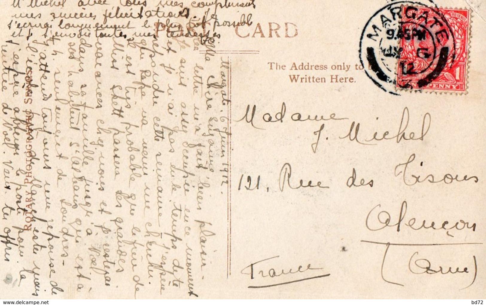 Paquebot Le TITANIC ( écrite à MARGATE En 1912 ) - Paquebots