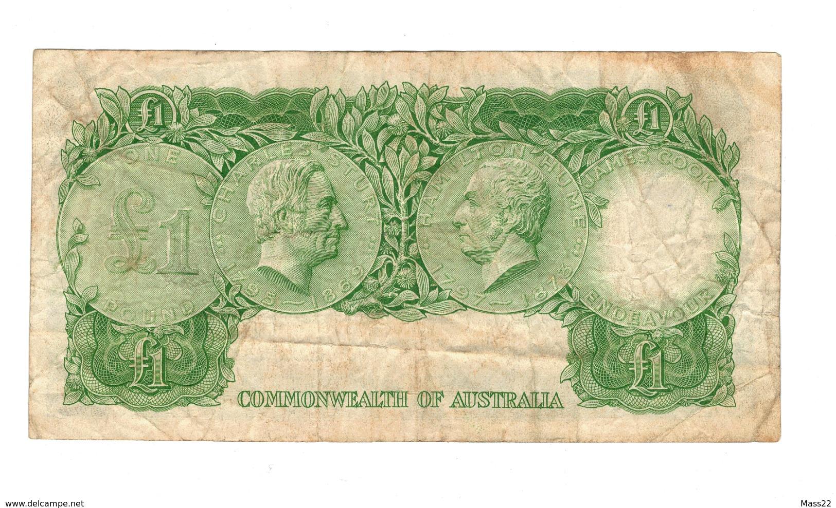 Coombs Wilson Australian One Pound, 1953 VF, HE 26 - 1953-60