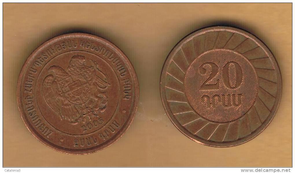 ARMENIA -  20 Drams 2003  KM93 - Armenia