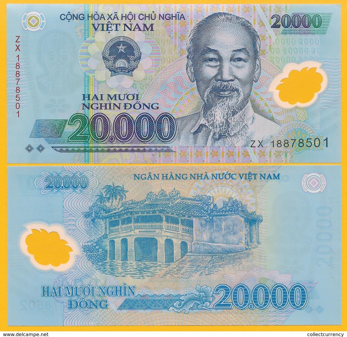 Vietnam Viet Nam 20000 (20,000) Dong P-120 2018 UNC Polymer Banknote - Vietnam