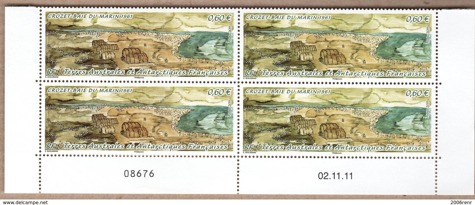 TAAF POSTE 599 BLOC DE 4 COIN DATE NEUF** SUPERBE - Französische Süd- Und Antarktisgebiete (TAAF)