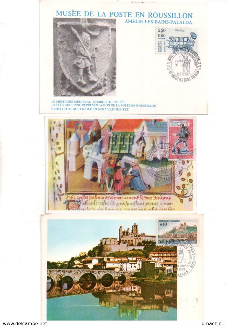 France - 24 Cartes Maximum, Commémoratives -voir état - Vrac (max 999 Timbres)