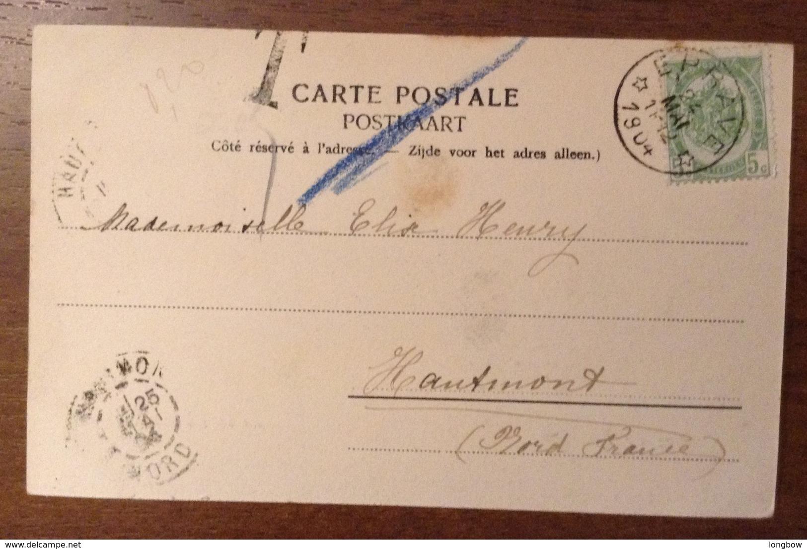 Grottes De Han La Salle D'embarquement 1904 - Rochefort
