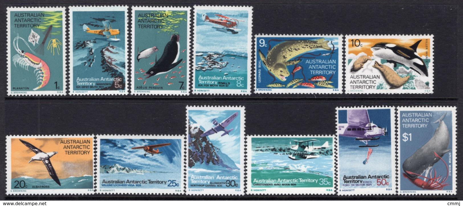 1973 - AUSTRALIAN ANTARTIC TERRITORY -  Yi.  23/34 - NH - (REG2875.. 25) - Territoire Antarctique Australien (AAT)