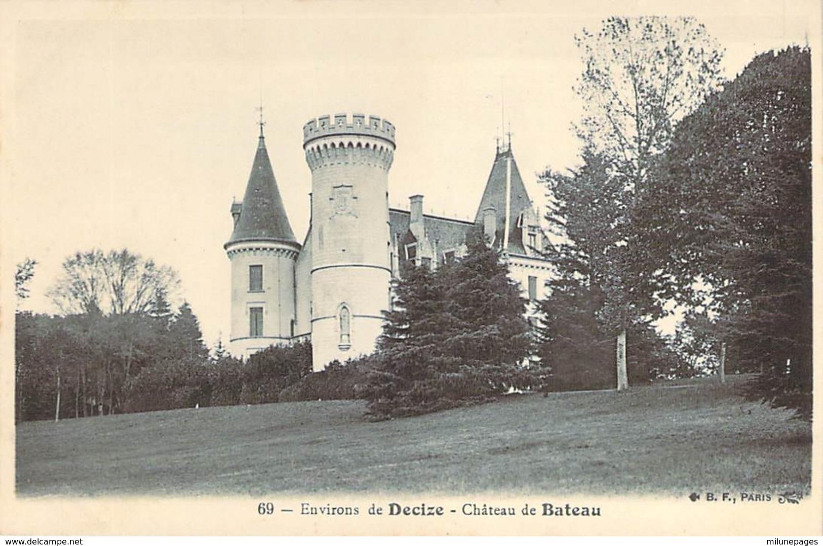 58 NIEVRE Le Chateau De Bateau Aux Environs De DECIZE - Decize