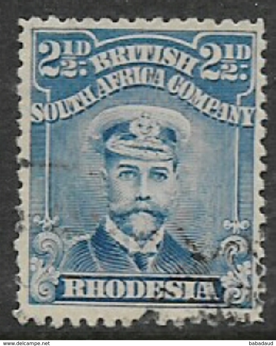 B.S.A.Co. / Rhodesia 1913, GVR, Admiral, 2 1/2d Bright Blue, Used - Southern Rhodesia (...-1964)