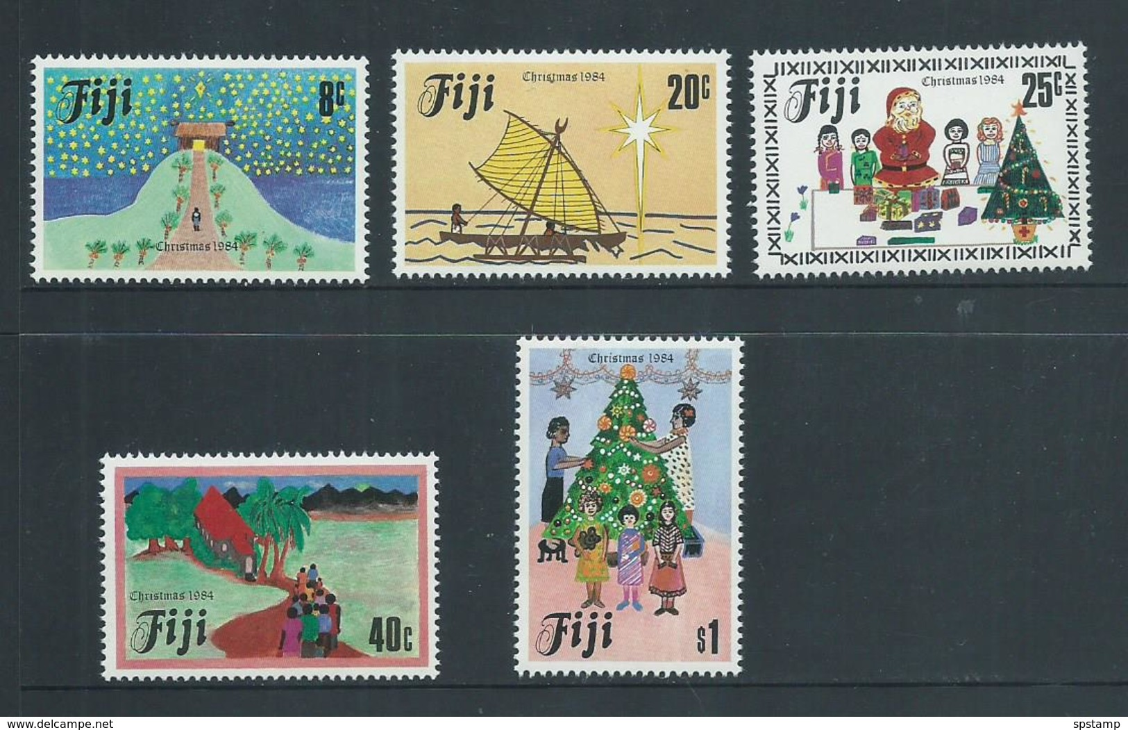 Fiji 1984 Christmas Set Of 5 MNH - Fiji (1970-...)