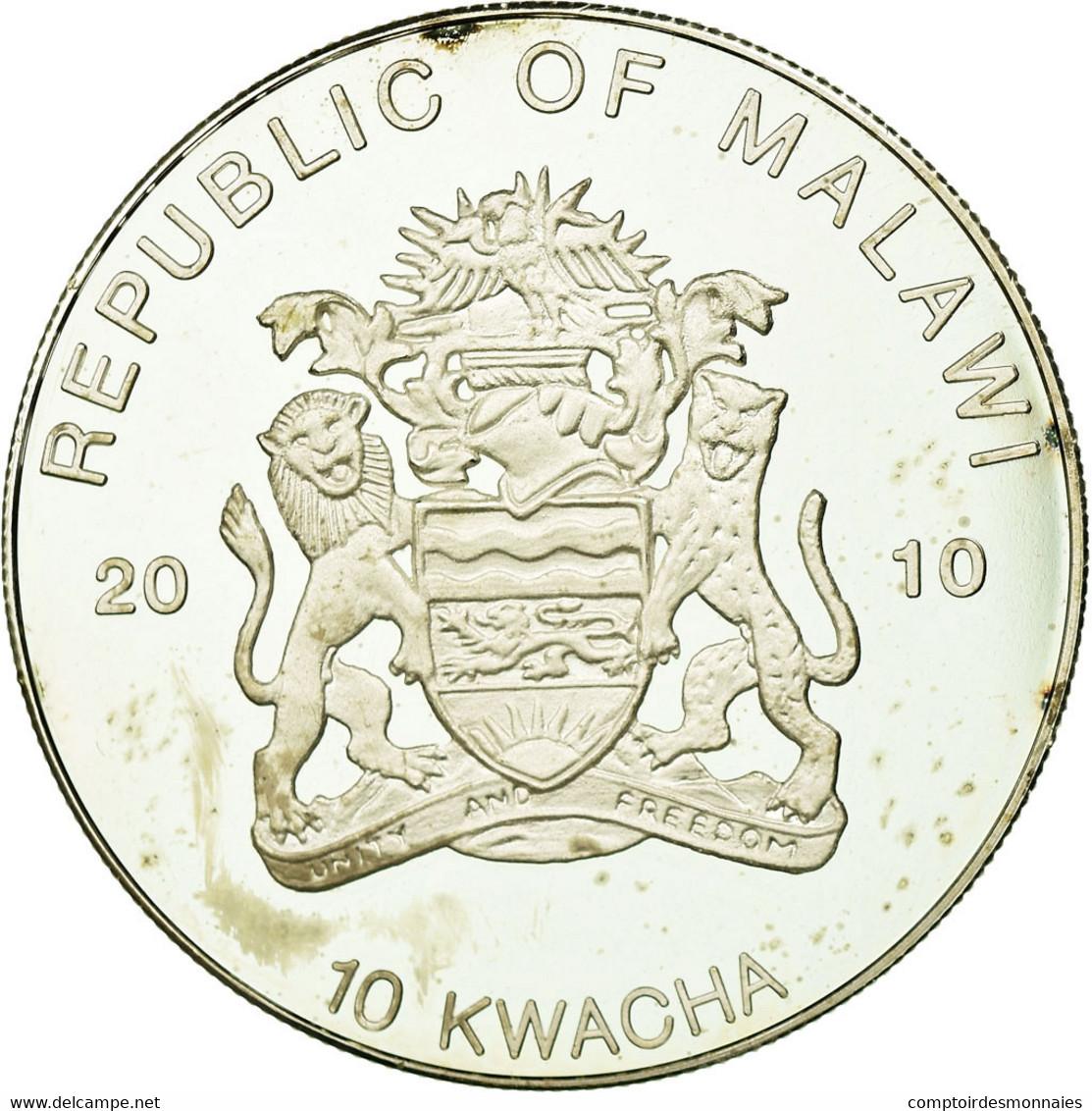Monnaie, Malawi, 10 Kwacha, 2010, SUP+, Silver Plated Copper-nickel - Malawi