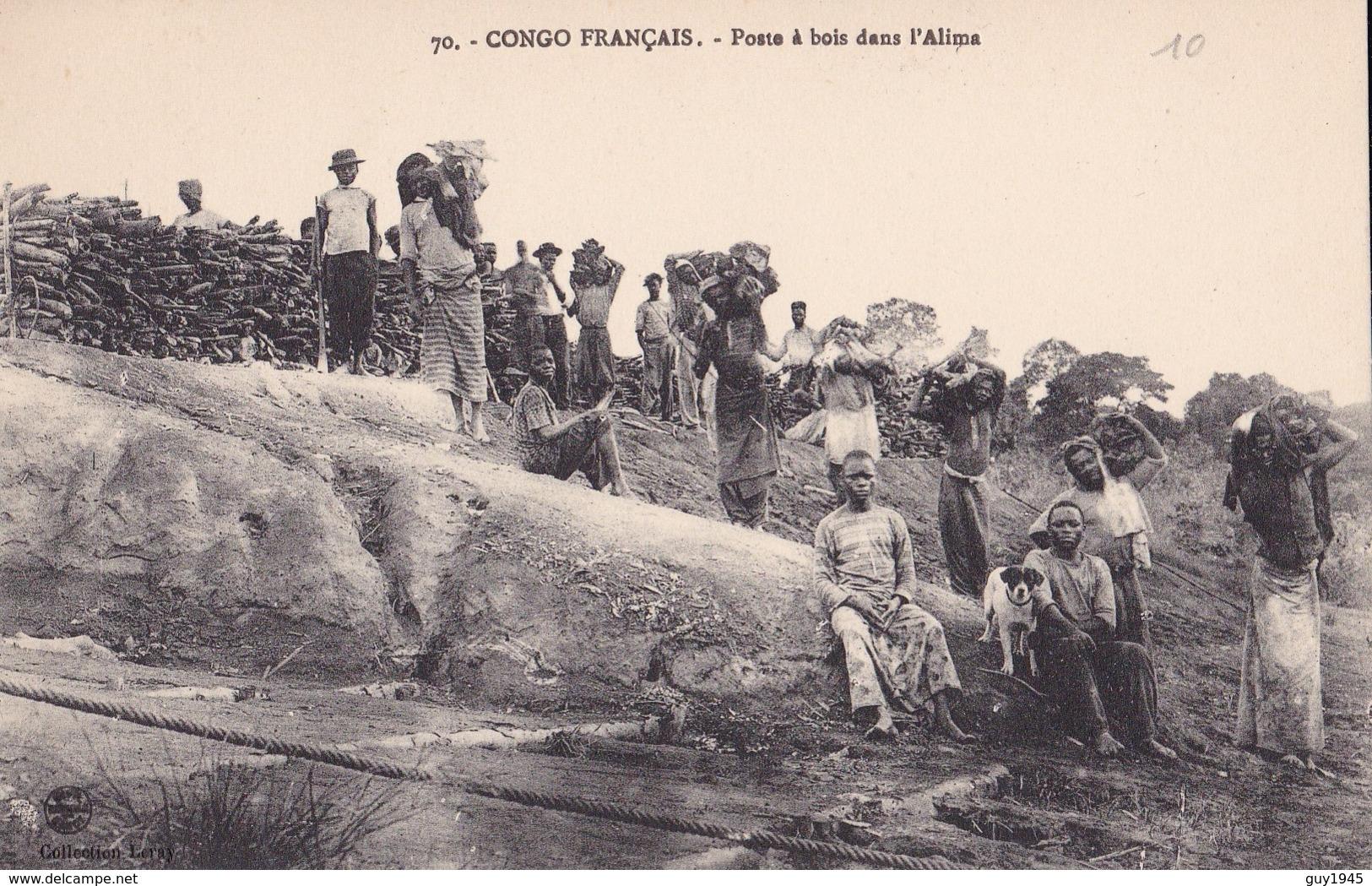 CONGO FRANCAIS N°70  Poste à BOIS Dans L' ALIMA - Congo Français - Autres